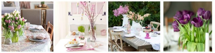Einfache Boho Chic Spring Dining Room & Tablescape
