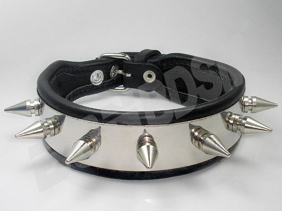 Enjoy using this collar to make not only a fashion statement but it also let's people know who exactly is the master and the slave in your twosome. This collar is not only made of quality leather, but also includes 8 metallic spikes that line around the neck and has a stainless steel plate that create an attractive look.    This quality leather collar is built to last. Well made and great looking.    Features:  1) Quality buckle and 8 metallic spikes.  2) Made from genuine quality leather…
