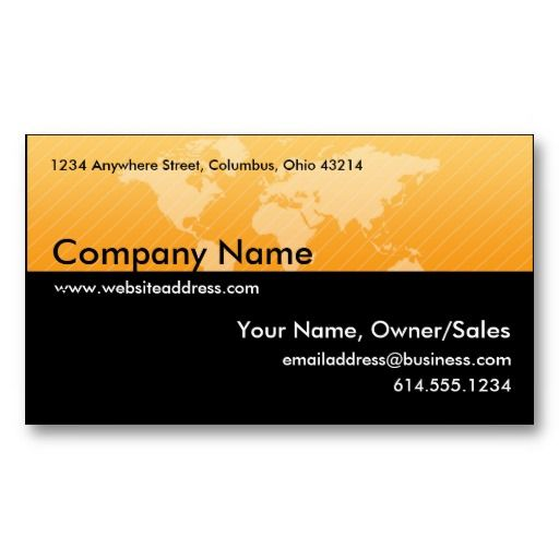 8 best business cards addresses street maps images on pinterest business card orange world map design 1 reheart Gallery