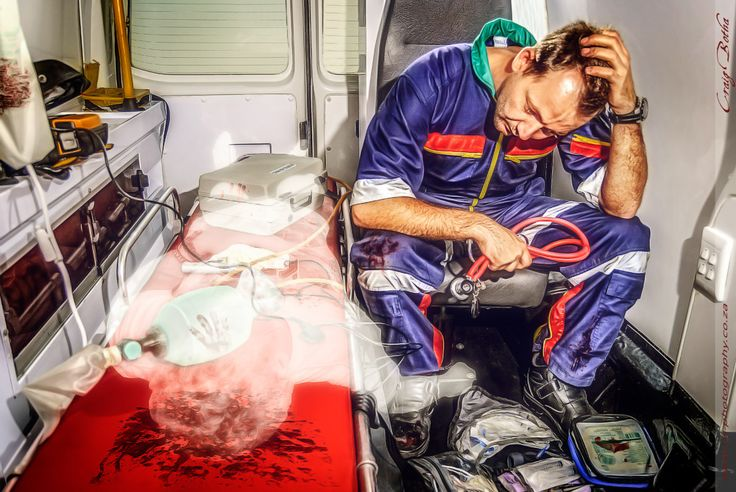 This is a ‪#‎photoshoot‬ series I have done to show that ‪#‎paramedics‬, as strong as they are have HUGE hearts and hurt when they loose a patient