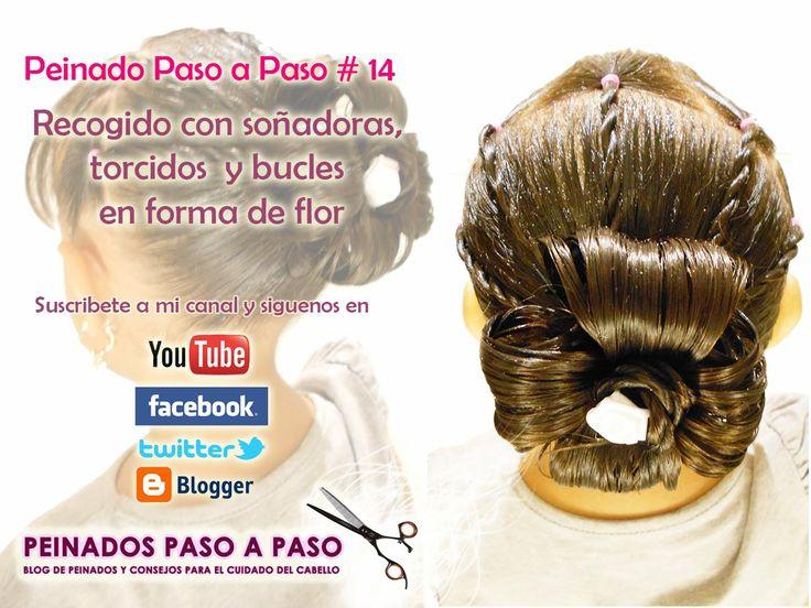 Peinado Paso a Paso # 14 - Recogido con soñadoras, torcidos y bucles en ...