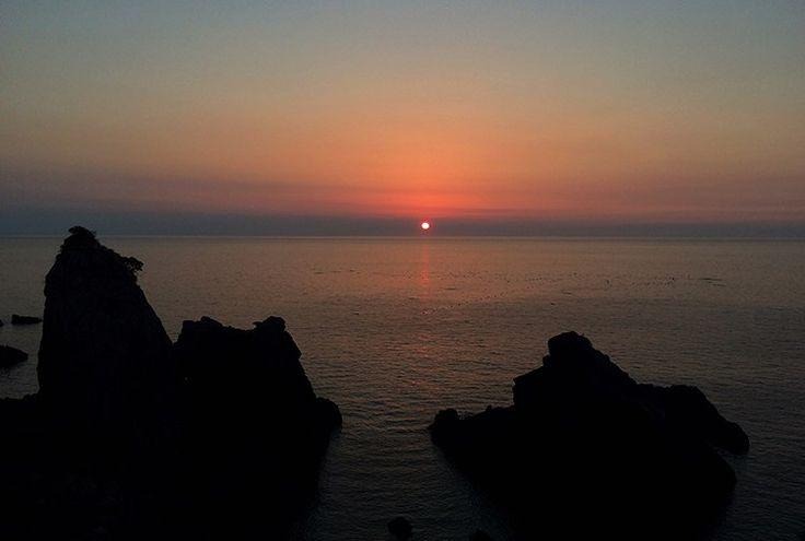Sunset over Amakusa, Japan