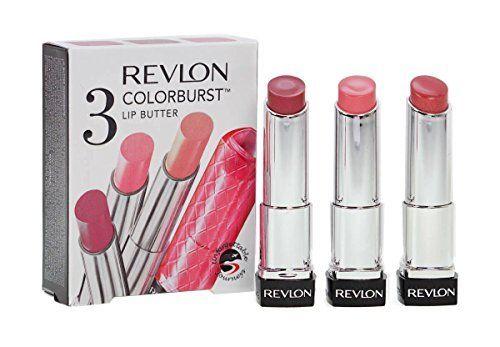3 REVLON COLOURBURST LIP BUTTER HYDRATING LIPSTICK GIFT SET - PINK, RED & PEACH by Revlon. 3 REVLON COLOURBURST LIP BUTTER HYDRATING LIPSTICK GIFT SET - PINK, RED & PEACH.