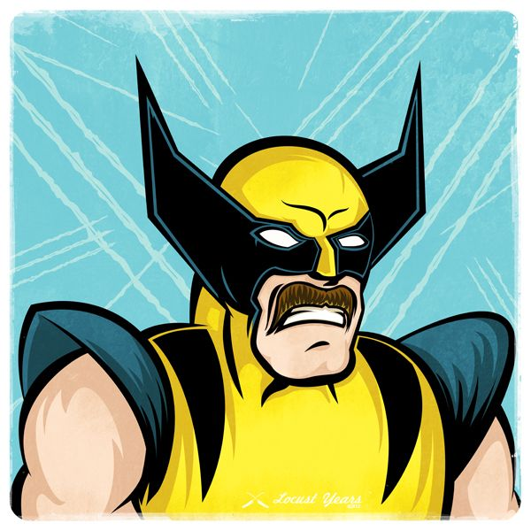 Mustaches For Superheroes - Wolverine