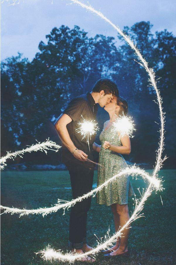 sparkler wedding exit + engagement inspiration