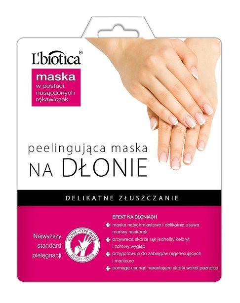 L'biotica - Peelingująca MASKA NA DŁONIE, w postaci nasączonych rękawiczek. Delikatnie usuwa martwy naskórek, przywraca jednolity koloryt i zapewnia zdrowy wygląd Twoich dłoni. Spróbuj!