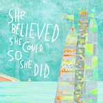 She Believed She Could Canvas Art