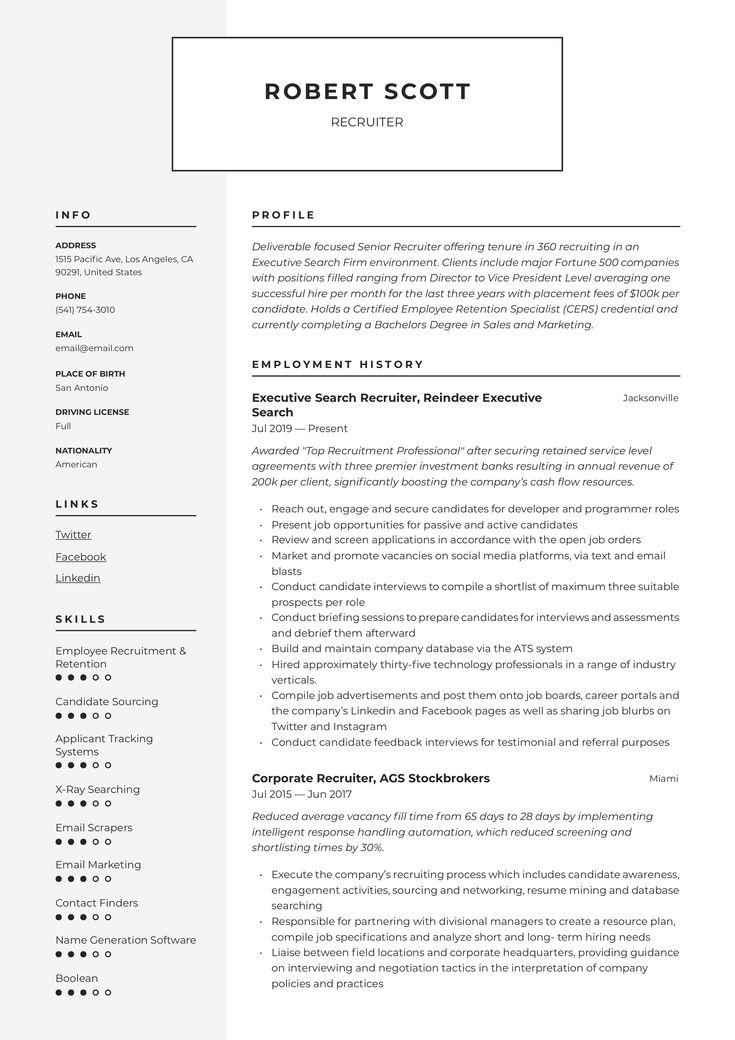 28++ Recruiting coordinator resume objective trends