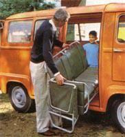 Renault Estafette back seats