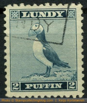 1939 Lundy Standing Puffin design