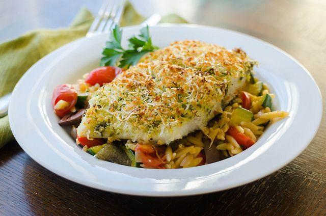 Pesto-Parmesan Crusted Halibut | Halibut & Whitefish Recipes | Pinter ...