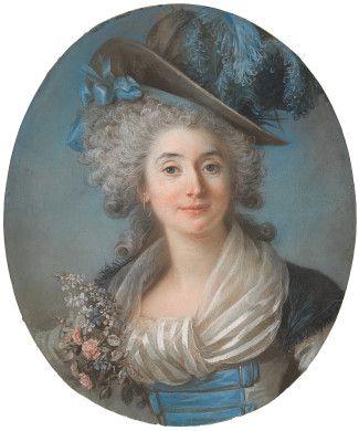 Adélaïde Labille-Guiard  A Fashionable Noblewoman Wearing a Plumed Hat, c. 1789