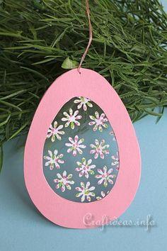 Easter Craft for Kids - Transparent Easter Egg Window Decoration 2