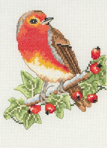 Red Robin - Beginner Cross Stitch Kit