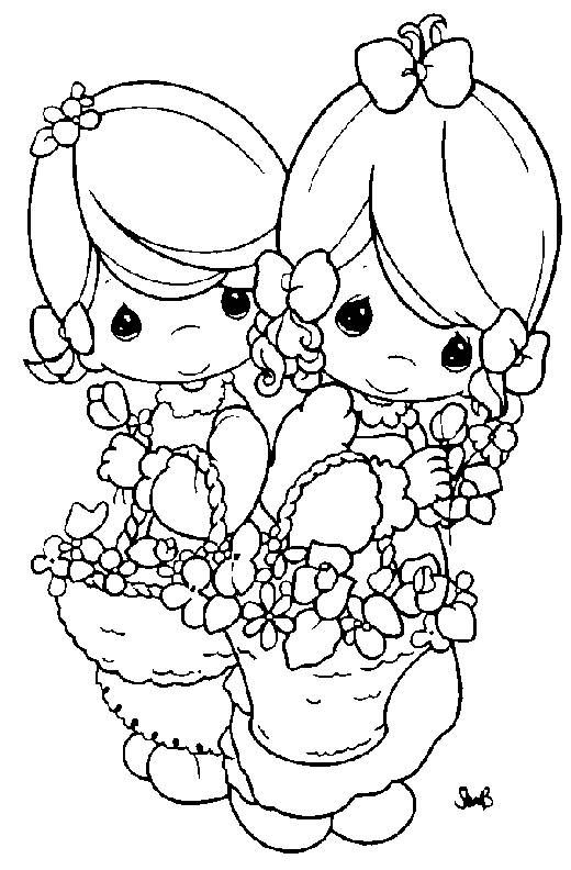 Coloring pages precious moments 79