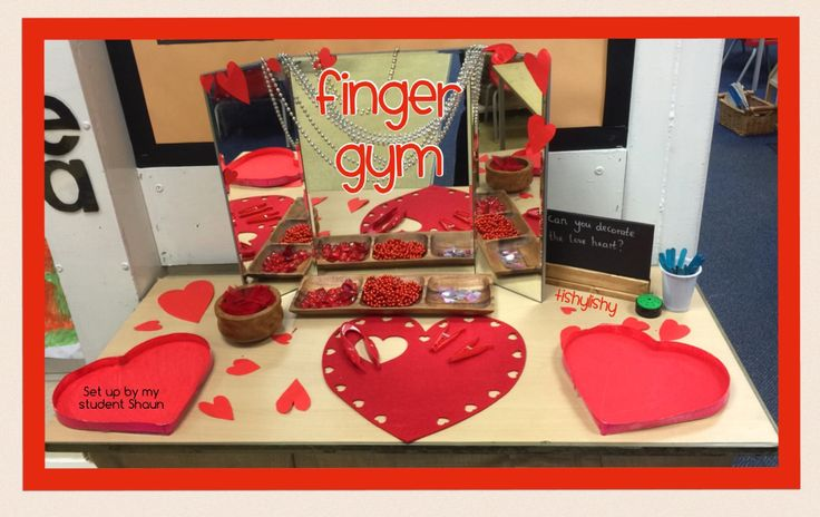 Valentine's theme finger gym