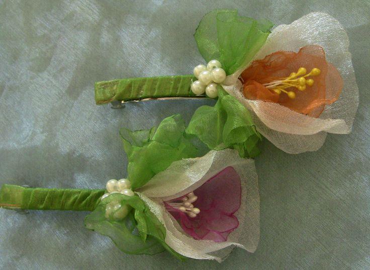 Novo modelo de Flor em Organza com pistilho Passo a Passo