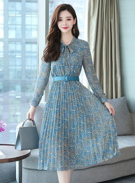 Chiffon Floral Midi Dress Plus Size Maxi Boho Dresses