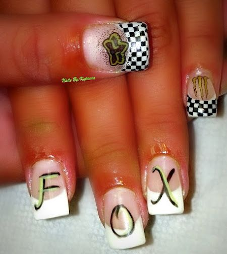 Fox Race day nails when Aspen starts racing...