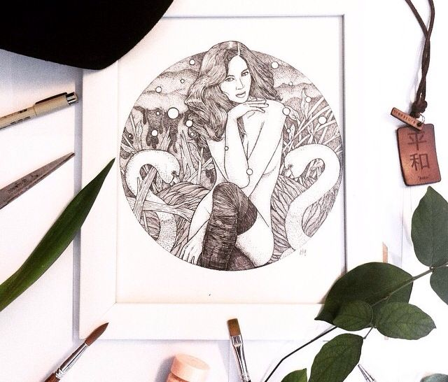 ARTWORK // PURPLE // WHITE FRAME✒️