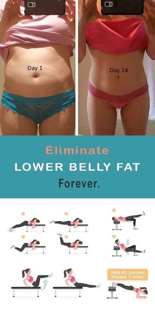 Éliminez les parties inférieures de votre ventre pour toujours avec ces 4 exercices …