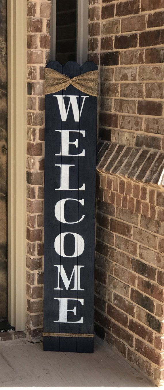 Rustic Welcome Sign 58 tall Welcome sign for Front