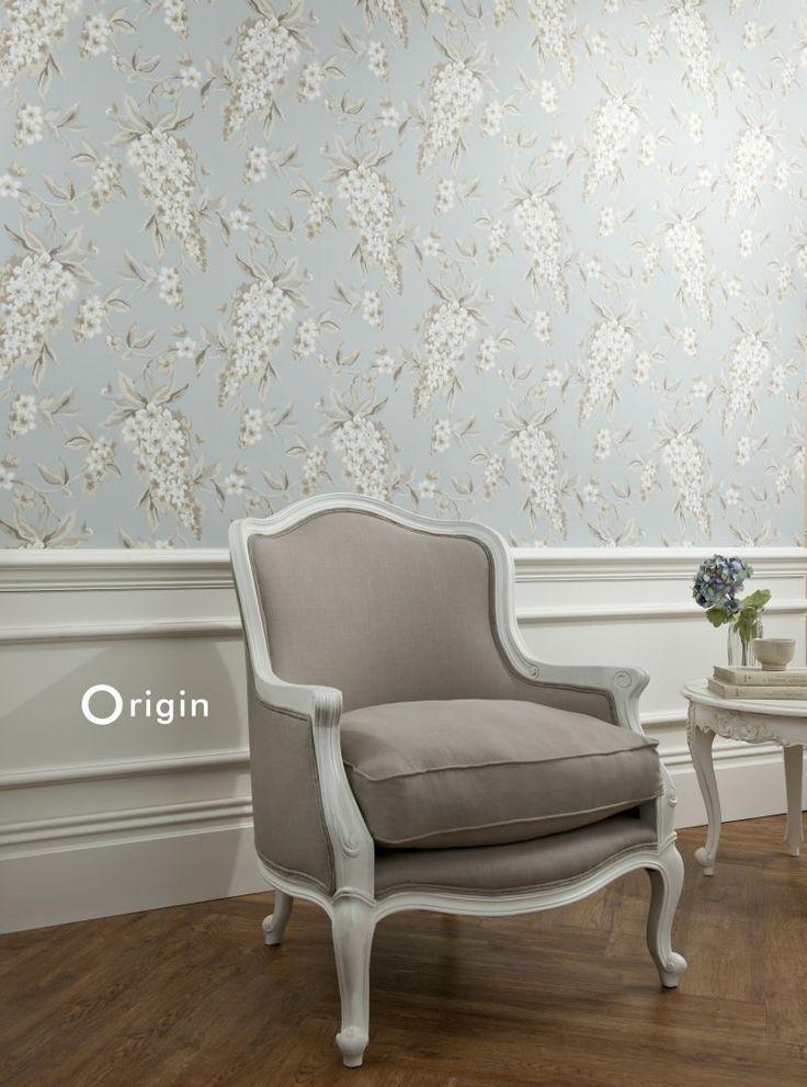 wisteria wallpaper bathroom - photo #33