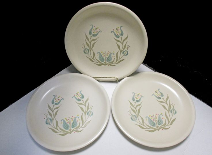 Metlox Vernonware Poppytrail Transitional Year-Round Shape Blueberry Hill Pattern - Set of 3 Dinner Plates by MarieWarrenArts on Etsy