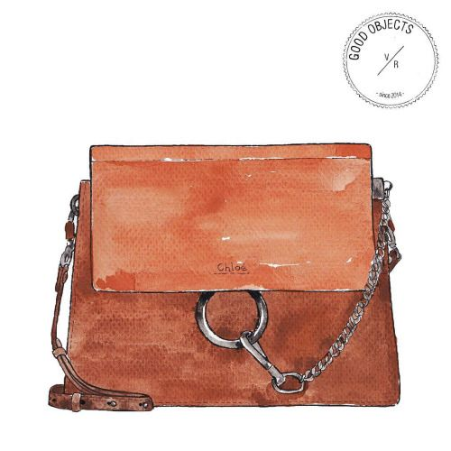 Good objects - The IT bag : Chloé Faye leather and suede shoulder bag @chloe #goodobjects #illustration
