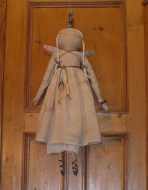 anděl, angel, primitive style, dolls