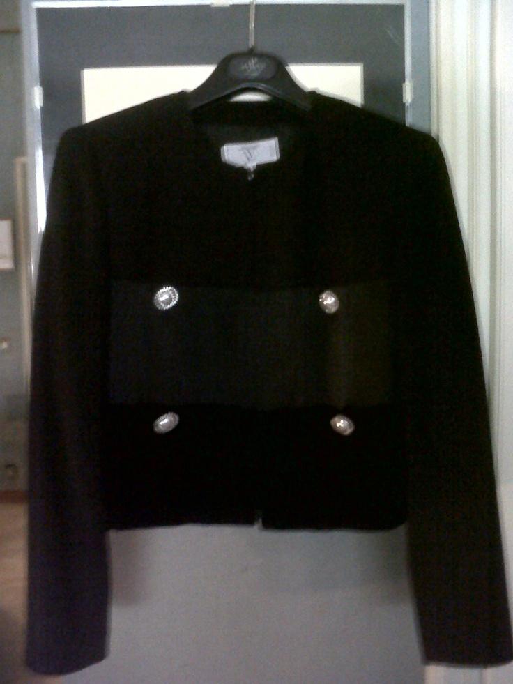 Valentino skirt and jacket. Elegant Winter velvet and satin costume