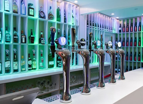 Hotel and Restaurant bar with selection on on tap beers and ciders.