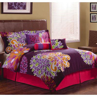 1st Apartment Flower Show Comforter Set & Reviews | Wayfair