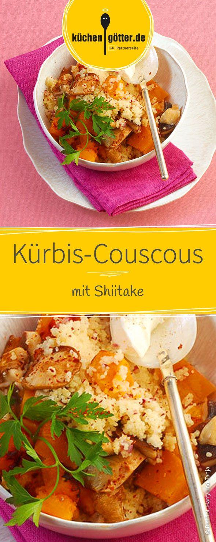 Dieses Rezept geht unglaublich einfach und schmeckt umso leckerer! Köstlicher Couscous wird gekocht und mit aromatischen Gewürzen verfeinert. Hokkaido-Kürbis, Shiitake-Pilze, rote Zwiebeln und würziger Knoblauch werden angebraten und zu dem Couscous gegeben. Dazu cremiger Sahnejoghurt und das Gericht ist komplett!
