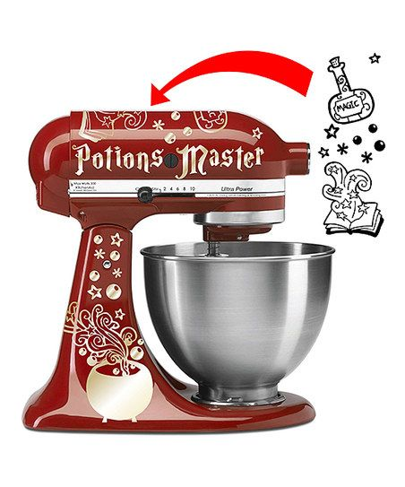 AZ Vinyl Works Gold Potions Master Decal | zulily Kitchen Aid decals
