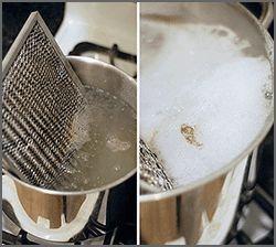 Pasos para deshacerse de la grasa incrustada en los filtros o rejillas metálicas de la campana extractora de nuestra cocina.
