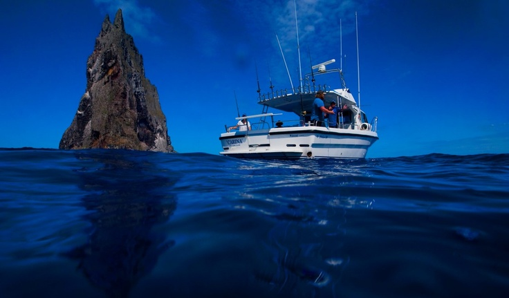 Fishing on the boat near Ball's Pyramid @ #lordhoweisland     http://www.lordhoweisland.info/gallery/    #Australia #NSW #fishing
