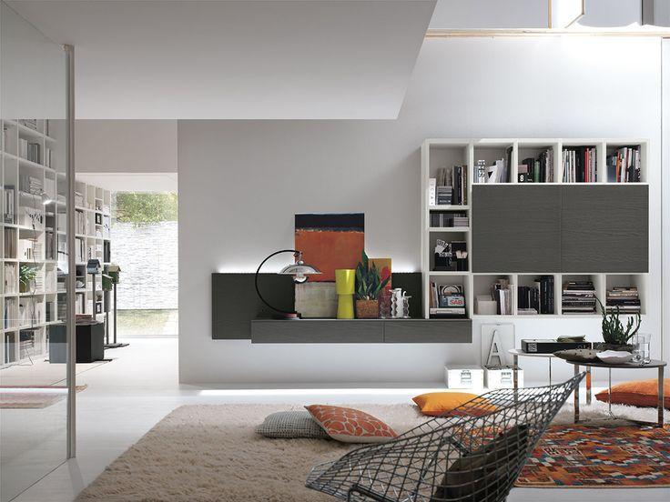 Parete attrezzata per #soggiorno moderno Atlante C303  gruppotomasella.it  ...