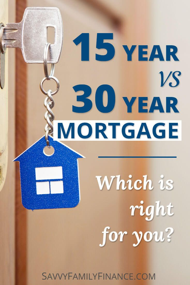 Learn whether a 15 year or 30 year mortgage is right for you and your family. #mortgage #home #loan via @savvyfamfinance
