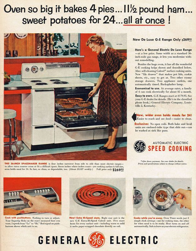 From 1953, a GE electric range - http://earth66.com/vintage/1953-electric-range/