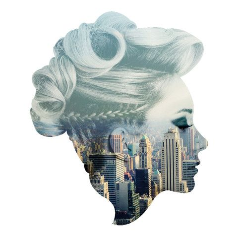 City Skyline Facescape wall decal | Featured Artists