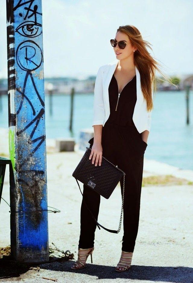 sexy black jumpsuit