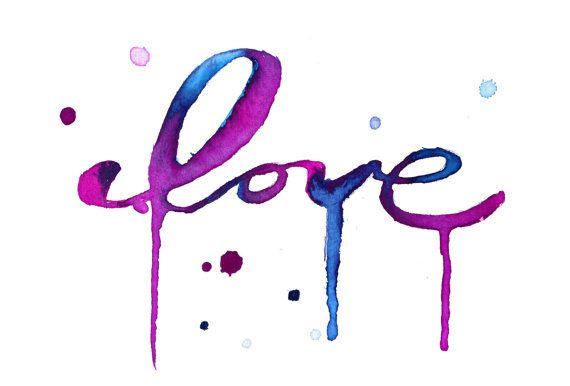 Special Edition Love watercolor print by Jessica Durrant - All profit proceeds will be donated to UNICEF