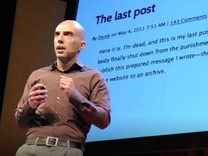 """In this TED talk, the idea of our life """"living"""" on after we die, with different services to post a status after we pass on. An interesting proposition raised is what if we use hologram technology and the use of analyzing technology to one day create holograms to interact with family members after death (using old Facebook posts, blog posts etc)"""