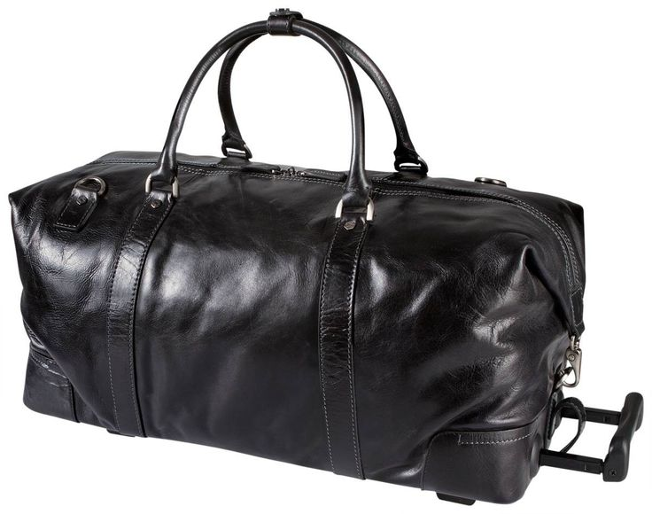 Jekyll and Hide Oxford Leather Wheeled Holdall - Black | Jekyll and Hide Black Luggage | KJ Beckett