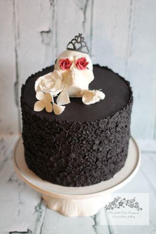 Sugar Skull, Halloween Cake, Sugar Skull Cake, Sugar Flower