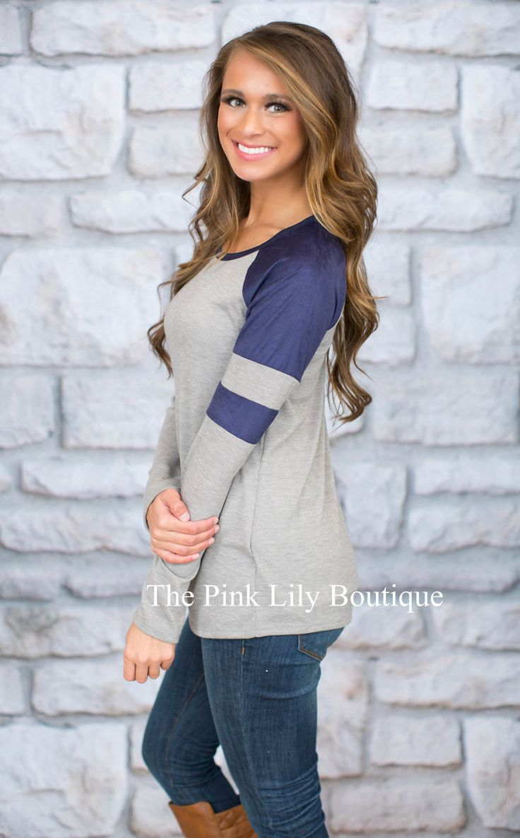 Deal Me In Navy Blouse - The Pink Lily Boutique