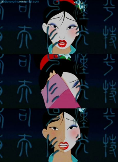 I wish my makeup wipes were as good as Mulan's sleeves.