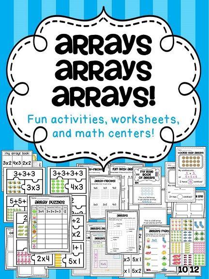 Arrays Arrays Arrays   Math Centers, Worksheets and Math