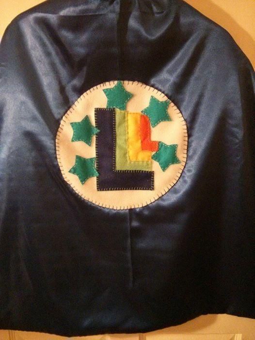 Leo's cape - 80's roller disco motif